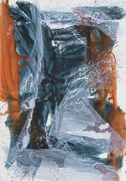 Elisabeth Plank - Von vorne, 2006, Acrylic on canvas, 200 × 140 cm